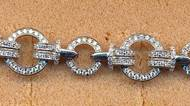 FB047, silver cz bracelet
