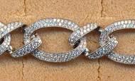 FB059, silver cz bracelet