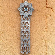 FP016, silver cz pendant