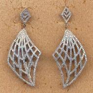 FE040 silver cz earring