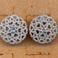 FE052 silver cz earring