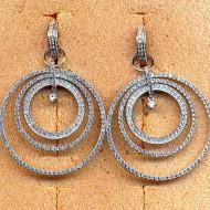 FE078 silver cz earring