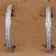FE112 silver cz earring