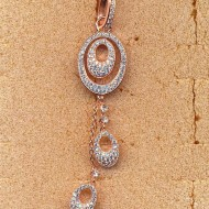 FP116R silver cz pendant