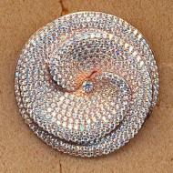 FP127R silver cz pendant