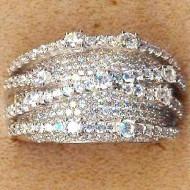 FR003 silver cz ring
