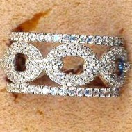 FR004 silver cz eternity ring
