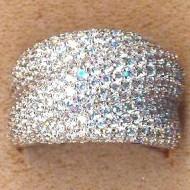 FR011 silver cz ring