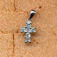 AP1273 18KW diamond 0.19ct pendant