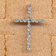 AP1877 18KW diamond 0.18ct pendant