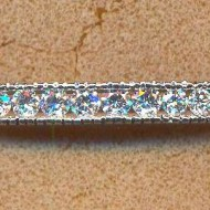 CA0061 18KW diamond 1.95ct bangle