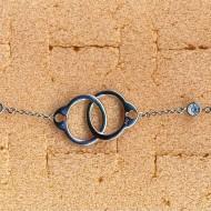 RB027W silver/CZ bracelet