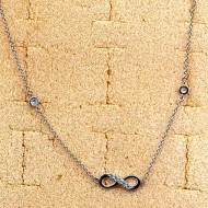 RN008 silver/CZ necklace