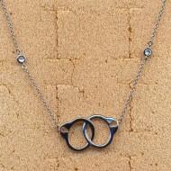 RN027W silver/CZ necklace