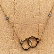 RN027Y silver/CZ necklace