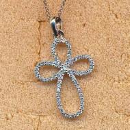 RN1123 silver/CZ necklace