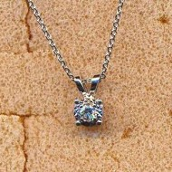 BN28297 18KW diamond 0.08ct necklace