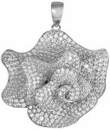 FAPBJ1373 silver CZ pendant