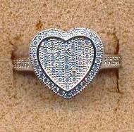 FARAPF110 silver CZ ring
