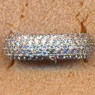 FARCL63190 silver CZ eternity ring